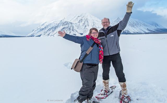schneeshu laufen im Kluane Nationalpark. Nature Tours of Yukon