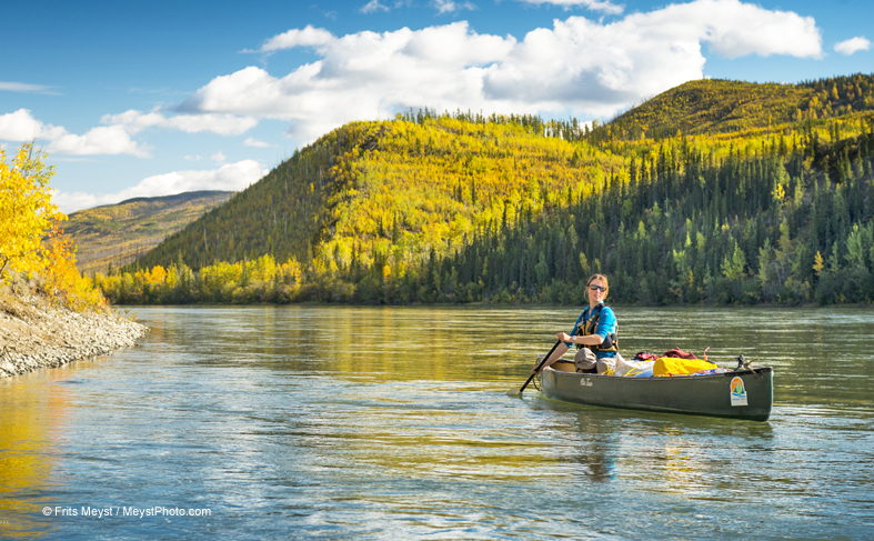 canoe adventure on the Yukon River - Canada