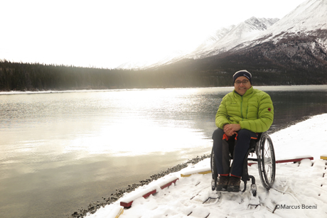 Markus Boeni in Kluane National Park mit Nature Tours of Yukon