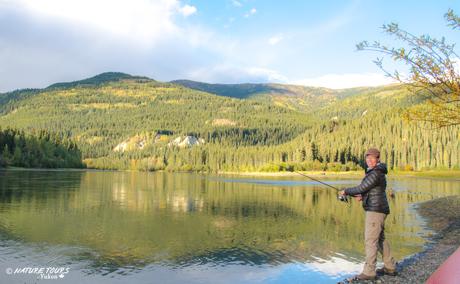 Kanu abenteuer in Kanada; Der Yukon River und Klondike Goldrausch
