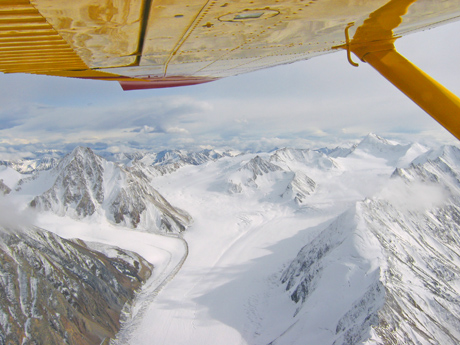 scenic flight over Kluane. Yukon & Alaska Highlights