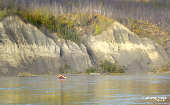 canoeing on the Yukon River with Nature Tours of Yukon - Canada