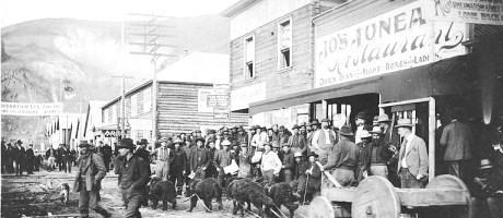 Dawson City during the Klondike Gold Rush
