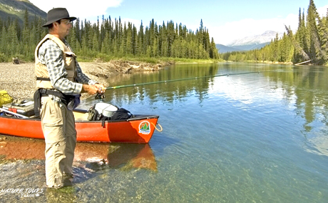 Liard River Fly-in canoe adventure. Nature tours yukon.