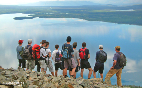 hiking in Kluane - high school group
