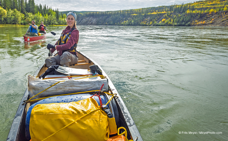canoeing in Yukon Canada - wildlife viewing