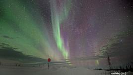 Northern Lights on the road to Tuktoyaktuk
