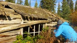 exploring the abandoned First Nations village at Yukon River