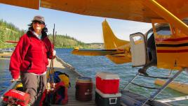 Liard River Yukon, loading up the float plane