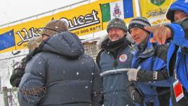 Yukon Quest - waiting for Casavant in Dawson