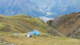 Donjek Glacier Yukon, hiking