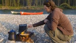 Liard River Yukon, cooking in the wilderness