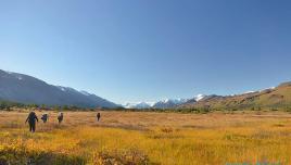 Hiking to Kluane Glacier