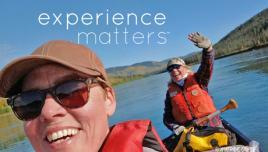 paddling in the Yukon