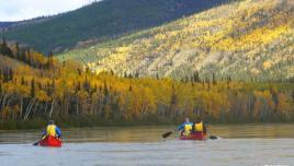 Yukon River Canada- amazing autumn colours.