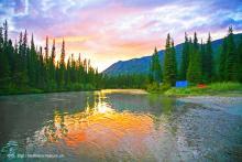 sunset on Big Salmon River