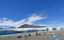 Arrived at the Donjek Glacier