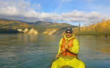 amazing fall colours on the Yukon River