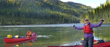 Breathtaking landscapes & wildlife - canoe trip on Yukon's Teslin River.